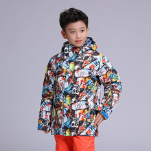 купить New GSOU SNOW ski jacket children waterproof boys winter jackets girls snowboard suits skiwear kids ski clothes дешево