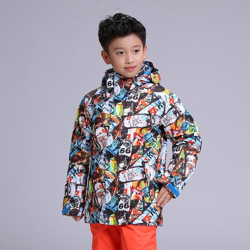 Nouvelle veste de ski de neige GSOU enfants vestes d'hiver imperméables pour garçons filles combinaisons de snowboard vêtements de ski pour enfants