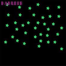 100PC Kids Bedroom Fluorescent Glow In The Dark Stars Wall Stickers Home Decor DIY poster vinilos
