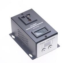 AC 220V 10000W SCR Electronic Voltage Regulator Temperature Speed Fan Motor Adjust Controller цена