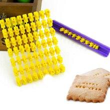 DIY Alphabet Number Cake Mould Letter Impress Biscuit Cookie Cutter Press Stamp Embosser Fondant Mold Cake Tool F TSLM1