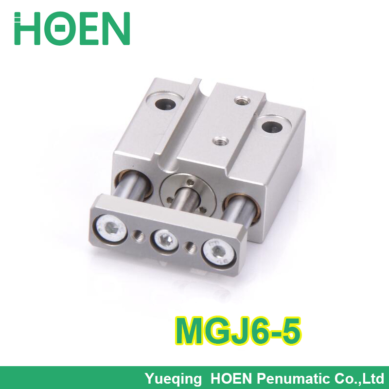 MGJ6-5 SMC type 6mm bore 5mm stroke guide Rod pneumatic cylinder mgj6*5 Mini 3 rod pneumatic cylinder smc type mxh16 5 pneumatic slider linear guide slide cylinder mxh16 5