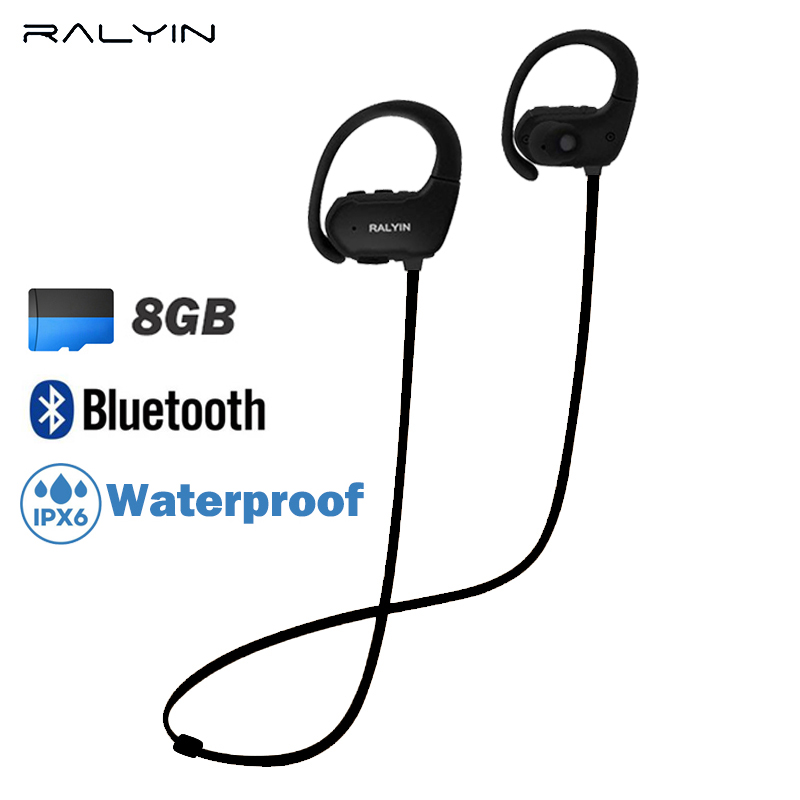 Ralyin MP3 Player portable sport waterproof MP3 PLAYER Walkman Lettore Mp3 Bluetooth earphone 8GB memory MP3 Player super bass mp3 ������������