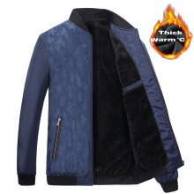 Winter Jackets Men s Coats Thick Fleece Stand Collar Men s Jackets Casual Solid Print
