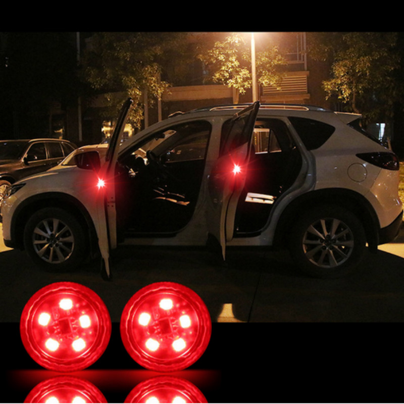 2x LED Car Door Warning Lights Accessories <font><b>Sticker</b></font> For <font><b>Mazda</b></font> 3 6 <font><b>5</b></font> Spoilers CX-<font><b>5</b></font> CX <font><b>5</b></font> CX7 CX-7 CX3 CX5 626 M3 M5 MX5 RX8 Atenza image