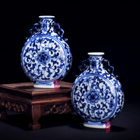 Jingdezhen Ceramics Porcelain Vase Mini Hand Painted Modern Fashion Decoration Decoration Room Decoration