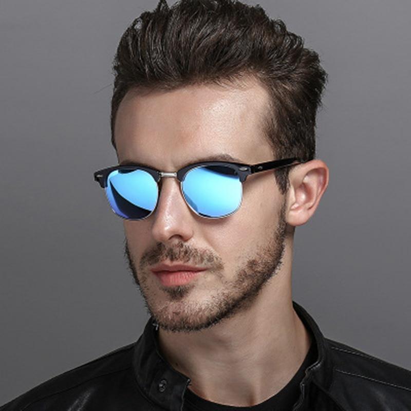 d992774ae LeonLion 2019 óculos Polarizados Do Vintage Semi-Sem Aro Designer de Marca  Óculos De Sol Das Mulheres/Homens Clássico Retro Oculos de sol Gafas UV400