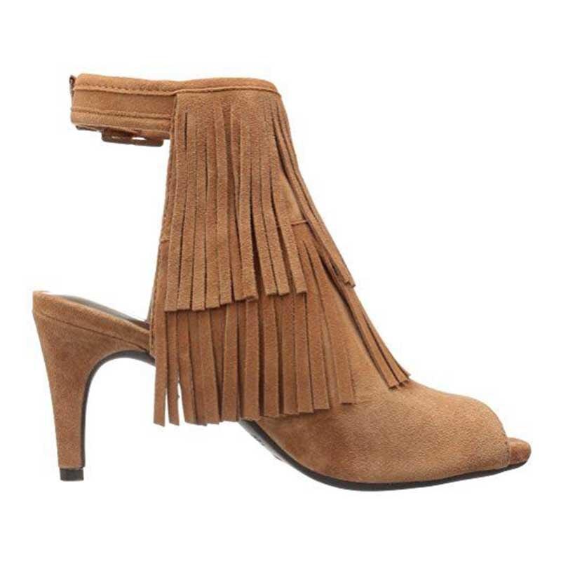 16 Y Borlas Plus Personalización Tacones Alto Zapatos Mujer Botas Botines Caqui Tamaño Delgado Toe De Hebilla Correa Peep Primavera Ty01 Verano agd8Hxqn6