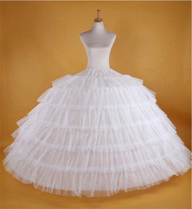 Big White Petticoats Super Puffy Ball Gown Slip Underskirt For Adult Wedding Formal Dress Brand Hot Large 7 Hoops Long Crinoline