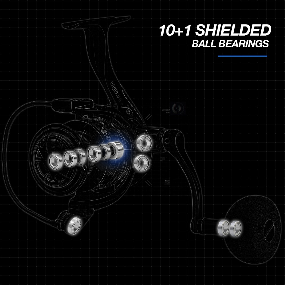 Piscifun Storm Spinning Reel 6 2 1 Gear Ratio 10 1 Ball Bearings 10KG Max Drag 2000 3000 4000 5000 Series Fishing Reel in Fishing Reels from Sports Entertainment