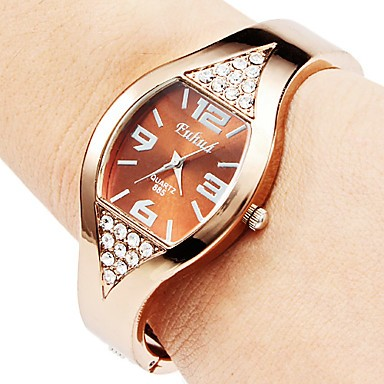 Rose Gold Bracelet Watch Women Watches Rhinestone