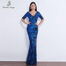 Half Mouw Vlinder Stijl Sequin Avondjurk Vestido De Festa Formele Mermaid Vestido De Noche Robe De Soiree Prom Dress