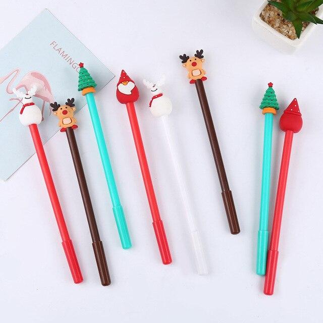 40 Pcs קוריאני מכתבים חג המולד שלג יפה ניטראלי עט Creative מחט שחור חתימת עט 0.5mm