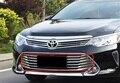 Carro De Corrida De Aço Inoxidável grade dianteira auto cromagem decoração produtos acessórios 15 pcs para 2014 2015 Toyota Camry