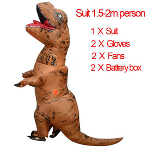 Image 2 - Inflatable Dinosaur Costumes Blowup Man Green Funny Mascot Party Unicorn Cosplay Dress Halloween costume for Women Adult Kids