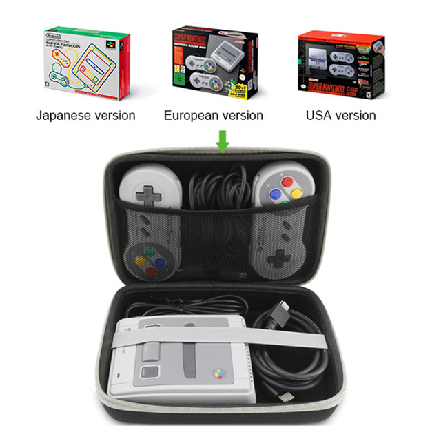 Hard Carrying Case Bag for SNE Classic Mini SF C Game host Hard Travel Case for SNES mini Pouch Cover Sleeve Storage Handbag