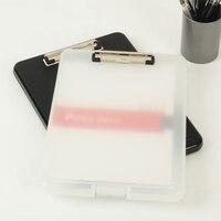 Black And White Classic Multifunctional File Organizer Plastic Clipboard Box File Case File Folder Pen Hold