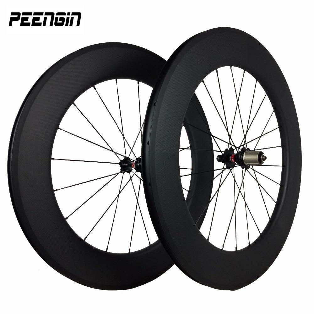 Excellent Carbon 80mm Deepth Wheel 25mm Wide Diy U Shape Clincher Tubeless Road/triathlon Wheelset Special Design Wider/stronger