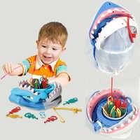 Christmas Gift Sharks Bite Trap Board Desktop Game Fishing Toys Children Funny Family Toys Trick Fish Novelty For Birthday