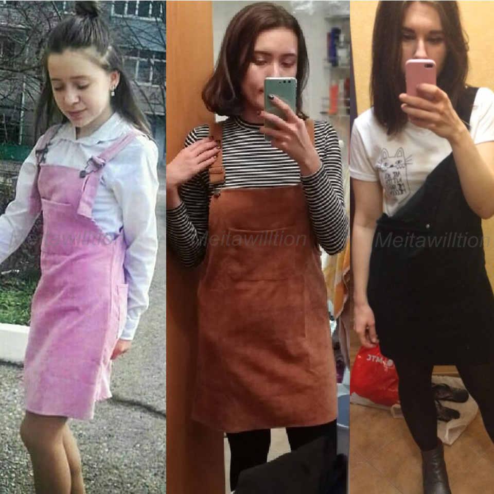 40fda5209cf ... 11 Colors Fashion 2018 Somple Korean Fashion Women Clothing Ladies  Pockets Suspender Skirts Corduroy Sleeveless Overalls ...