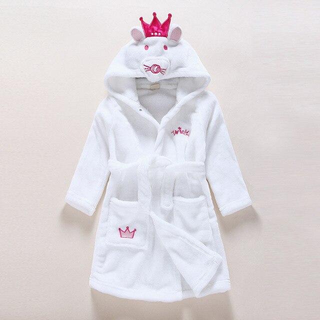 a0805f50c 2019 primavera Otoño Invierno traje de franela de los niños albornoces  pijamas de los niños bebé
