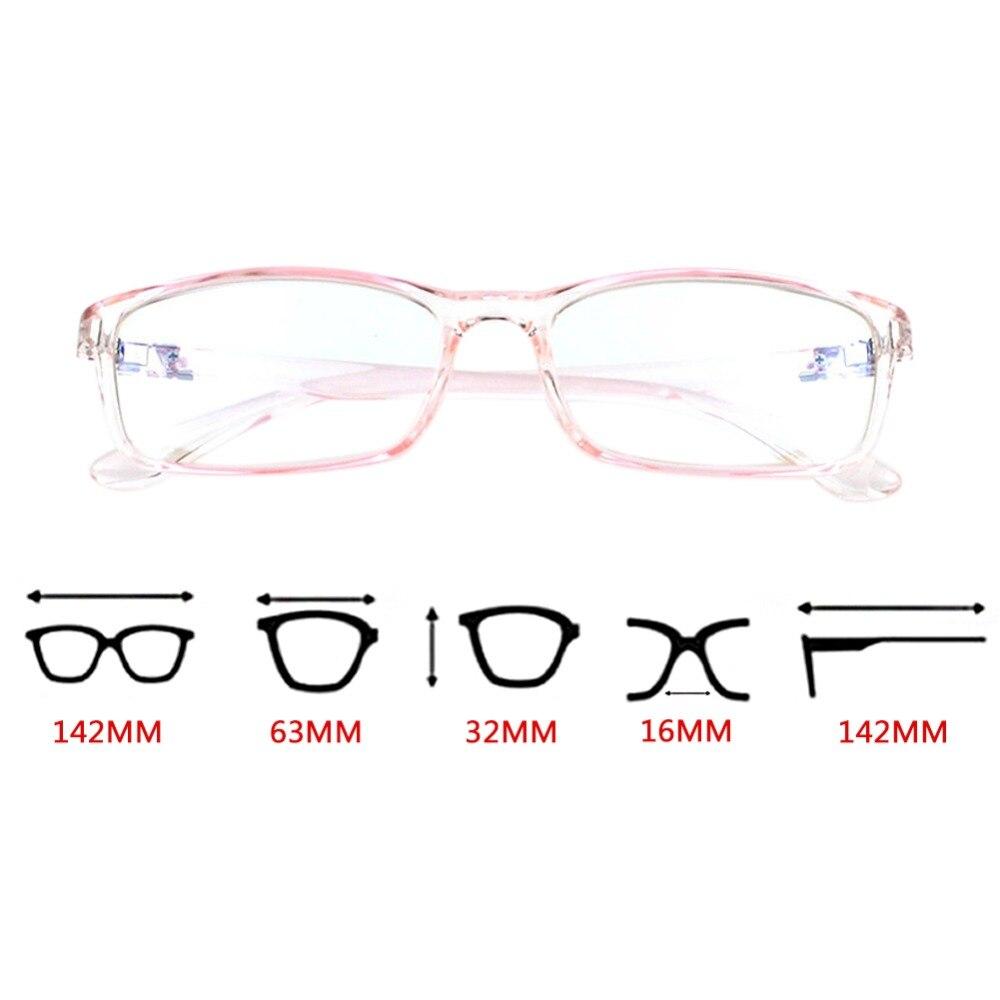 Lightweight TR90 Frame Glasses Anti Blue Light Eyeglasses