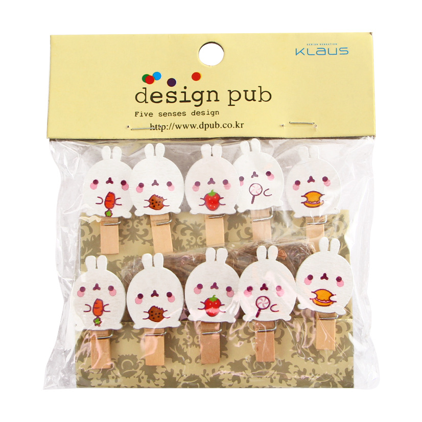 10 Pcs/pack Cute Molang Rabbit Clip Photo Craft DIY Decoration Prop Notes Letter Paper Clip Office School Student Supplies