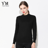 YuooMuoo High Quality Sweater Women Semi Turtleneck Cashmere Sweater Simple Winter Pullover Women Autumn Knitted Sweater