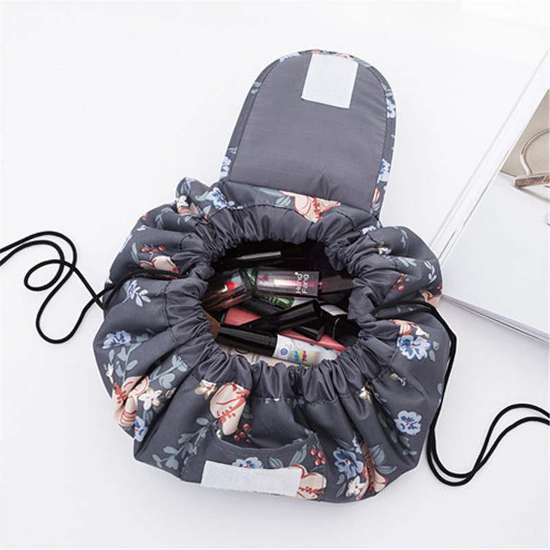 2018 Fashion Women Drawstring Beam Port Cosmetic Bag Travel Toiletry Makeup Storage Luggage Organizer Pouch Accessories купить
