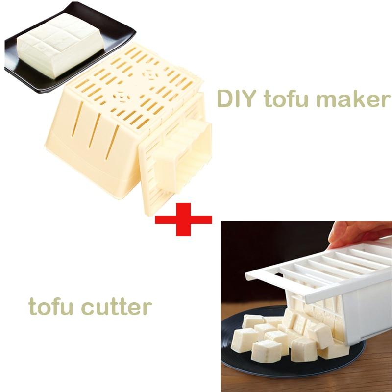 DIY Homemade Tofu Press-Maker Mold Box+ Plastic Tofu Mold Tofu Into Cubes Cutter