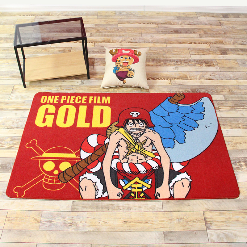 Fashional multipurpose Cartoon One Piece Print Floor mat for Children Kids Play Game Living room bedroom Anti-Slip Cushion Rug