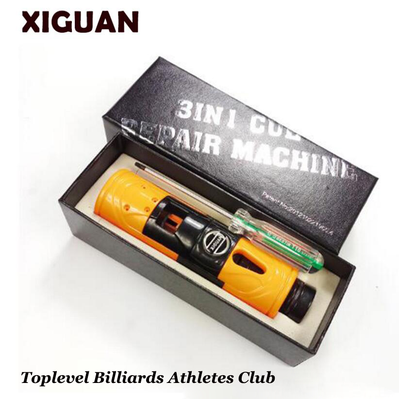 Original XIGUAN Billiard Pool Training Tool Multi-functional Tip Repair Tool(trimmer+side Cutting+ferrule Cutting)for Carom Poo