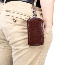 Men's Key Bag Multifunctional Waist Hanging Key Holder Suppose So Housekeeper Car Genuine Leather Remote Control Key Wallets
