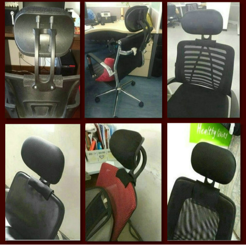 Image 5 - Adjustable Headrest Office Computer Swivel Lifting Chair Neck Protection Pillow Office Chair Accessories Free Installation-in Furniture Frames from Furniture