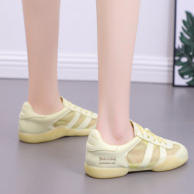 Rommedal women 39 s flats PU leaterh mesh solid white pink yellow color luxury designer diving walking comfy light casual shoes in Women 39 s Flats from Shoes