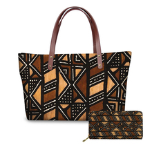 NOISYDESIGNS Womens Handbags Top-handle Bags Vintage African Printing Ladies Purses and Tote Party Bolsos Mujer