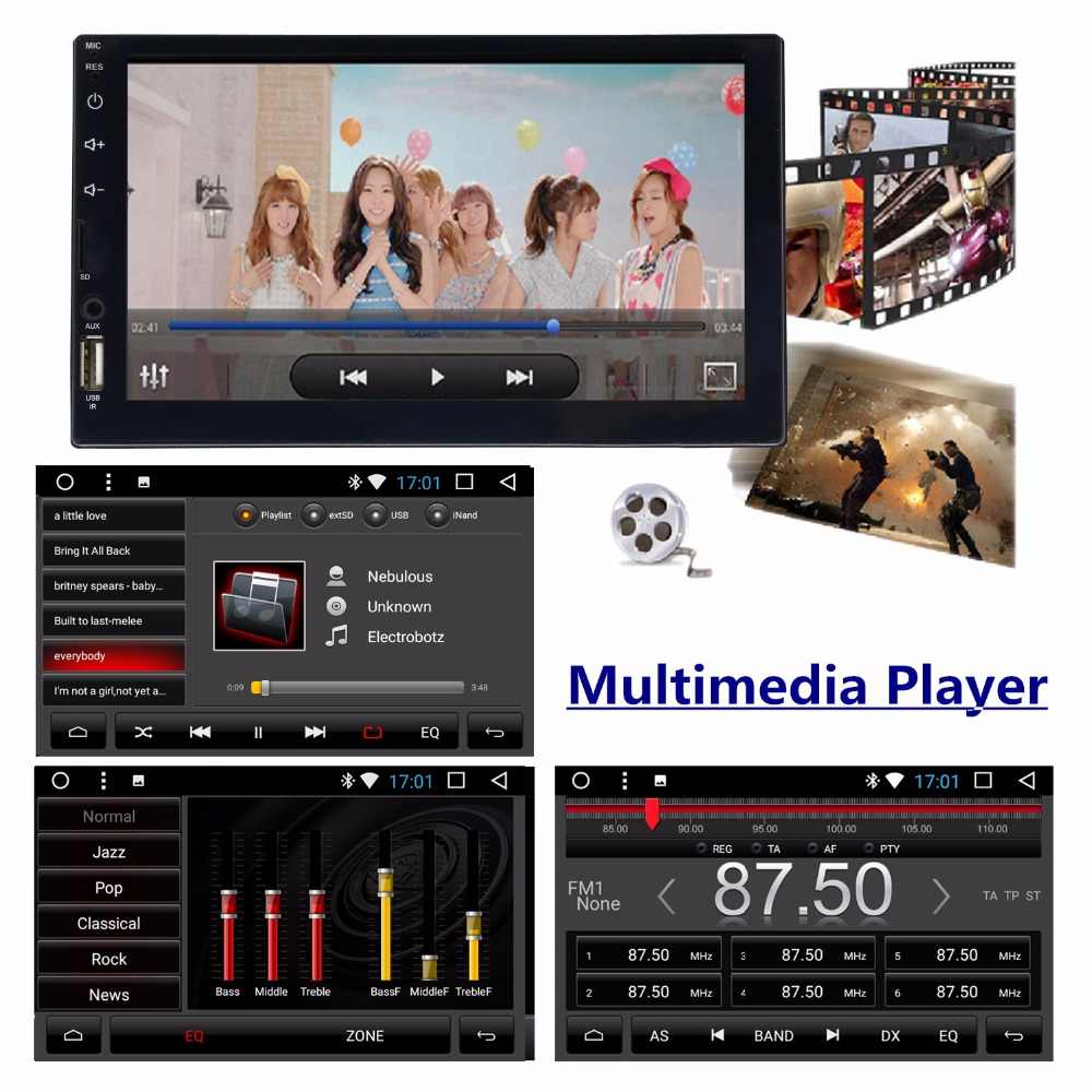 Panlelo S4 8 Cores 2G+16G 2 Din Android Car Radio Double Din Android 7 7
