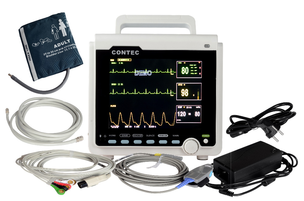 CONTEC ICU/CCU Patient Monitor Multi-parameter,ECG+NIBP+Pulse Rate+SPO2 CMS6000 airtac new original authentic solenoid valve 4v220 08 dc24v
