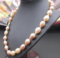 NATURAL PINK AAA 11 13MM SOUTH SEA PEARL NECKLACE 19 INCH choker