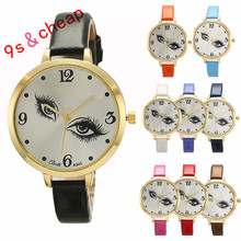 Womens Ladies Eye Pattern Leather Quartz Wrist Watch #3363 Brand New High Quality Luxury Free Shipping