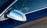 S Line Style Silver Matt Chrome Side Mirror Cap Replacement WITH Lane Assist For Audi A4 & A5 B8 Facelift Model