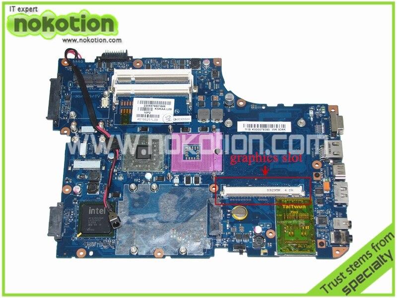 NOKOTION K000078380 KSKAA LA-4991P Madre Del Computer Portatile per Toshiba A500 intel Mainboard GM45 DDR2 con slot graficoNOKOTION K000078380 KSKAA LA-4991P Madre Del Computer Portatile per Toshiba A500 intel Mainboard GM45 DDR2 con slot grafico
