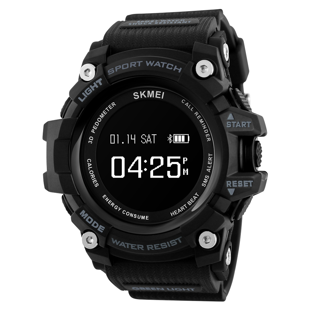 <font><b>SKMEI</b></font> Bluetooth Smart Watches Men Heart Rate Sport Watch Men Fitness Pedometer Calorie Waterproof Digital Wristwatches <font><b>1188</b></font> image