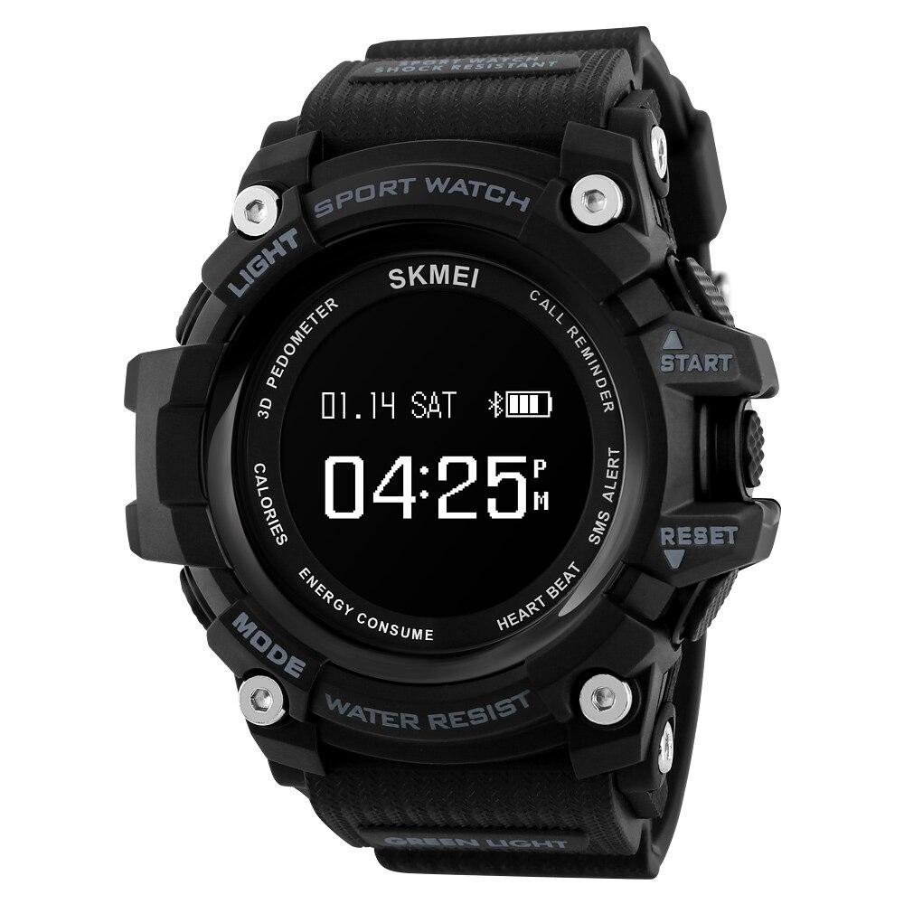 SKMEI Bluetooth Smart Watches Men Heart Rate Sport Watch Men Fitness Pedometer Calorie Waterproof Digital Wristwatches 1188