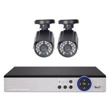 Defeway HD CCTV System 4CH 1080N HDMI Output 720P DVR 2PCS 1200TVL Outdoor Night Vision IR Security Camera Home Surveillance Kit