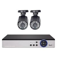 Defeway 4CH 1080P 960H Home Surveillance DVR NVR KIT 1000TVL 2PCS Outdoor CCTV Camera 4CH Network