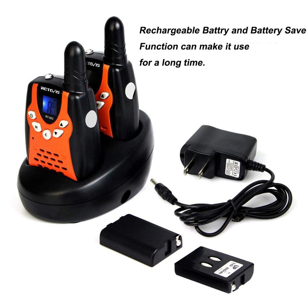 Retevis RT602 Walkie Talkie Kids Rechargeable 2pcs PMR446 PMR 446MHz 0.5W Children Toy Two-way Radio Flashlight Christmas Gift