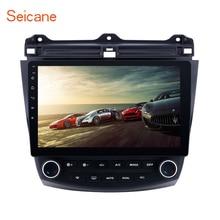 Seicane Android 6,0/7,1/8,1 10,1 «2DIN GPS автомобильный радиоприёмник для Honda Accord 7 2003 2004 2005 2006 2007 4-Core WIFI мультимедийный проигрыватель