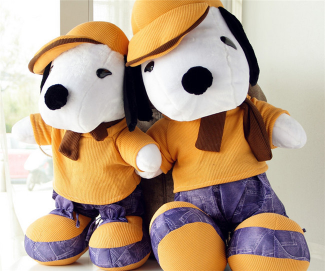 New PP Cotton Snoop Dog Doll Dog plush toy Free shipping stray dog style plush pp cotton toy w light brown 2 x aa