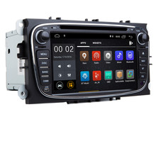 "7 ""IPS Android 9.0 radiofonico Auto per Ford C max S max Mondeo dvd gps Wifi 3G Bluetooth SD OBD Specchio Link Can bus volante(China)"
